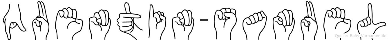 Quentin-Samuel im Fingeralphabet der Deutschen Gebärdensprache