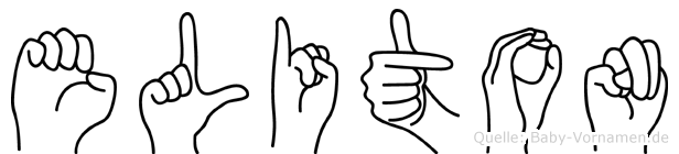 Eliton in Fingersprache für Gehörlose