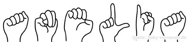 Anelia in Fingersprache für Gehörlose