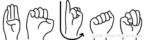 Bejan in Fingersprache für Gehörlose
