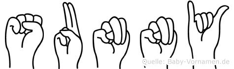 Sunny in Fingersprache für Gehörlose