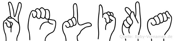 Velika im Fingeralphabet der Deutschen Gebärdensprache