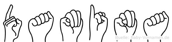 Damina in Fingersprache für Gehörlose