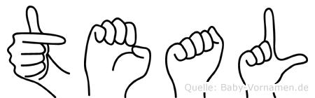 Teal in Fingersprache für Gehörlose