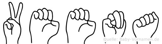 Veena im Fingeralphabet der Deutschen Gebärdensprache