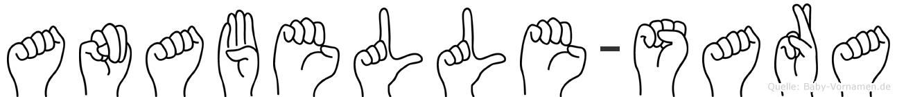 Anabelle-Sara im Fingeralphabet der Deutschen Gebärdensprache