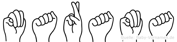 Marama in Fingersprache für Gehörlose