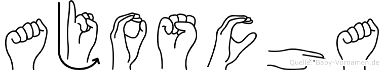 Ajoscha im Fingeralphabet der Deutschen Gebärdensprache