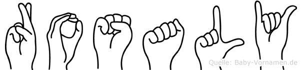 Rosaly im Fingeralphabet der Deutschen Gebärdensprache