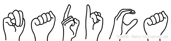 Nadica im Fingeralphabet der Deutschen Gebärdensprache