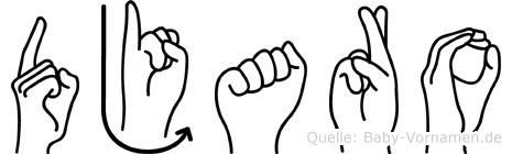 Djaro in Fingersprache für Gehörlose