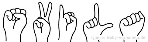 Svila in Fingersprache für Gehörlose