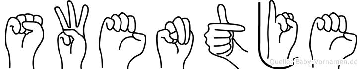 Swentje in Fingersprache für Gehörlose