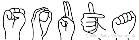 Souta im Fingeralphabet der Deutschen Gebärdensprache