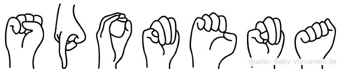 Spomena in Fingersprache für Gehörlose