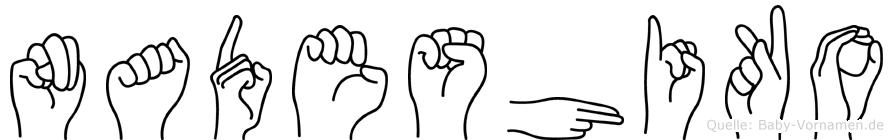Nadeshiko in Fingersprache für Gehörlose