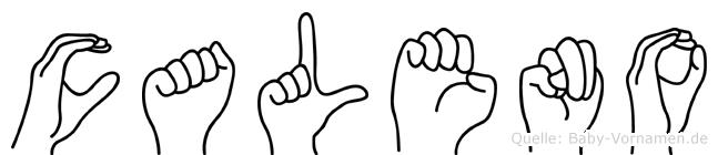 Caleno in Fingersprache für Gehörlose