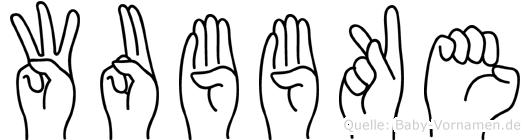 Wubbke in Fingersprache für Gehörlose