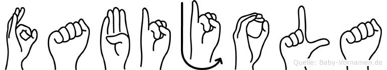 Fabijola in Fingersprache für Gehörlose