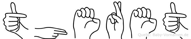 Theret im Fingeralphabet der Deutschen Gebärdensprache