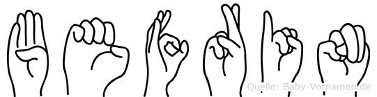 Befrin im Fingeralphabet der Deutschen Gebärdensprache