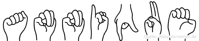 Annique im Fingeralphabet der Deutschen Gebärdensprache
