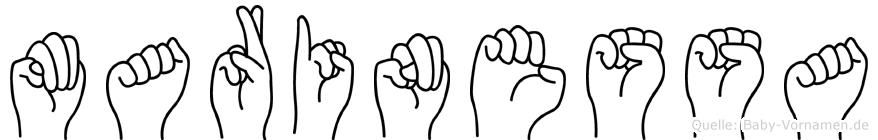 Marinessa im Fingeralphabet der Deutschen Gebärdensprache