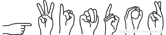 Gwindor in Fingersprache für Gehörlose