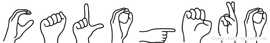 Calogero in Fingersprache für Gehörlose