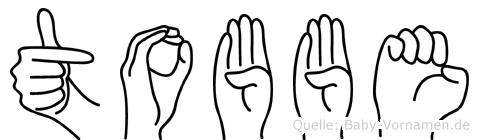 Tobbe in Fingersprache für Gehörlose
