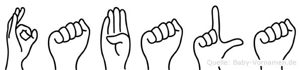 Fabala in Fingersprache für Gehörlose