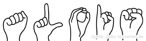 Alois im Fingeralphabet der Deutschen Gebärdensprache