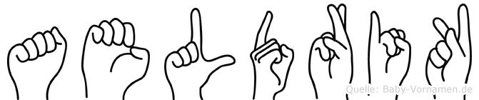 Aeldrik in Fingersprache für Gehörlose