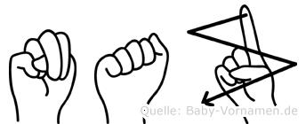 Naz in Fingersprache für Gehörlose