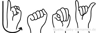 Jamy in Fingersprache für Gehörlose