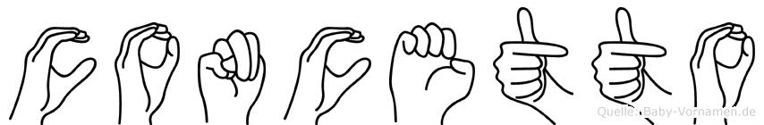 Concetto im Fingeralphabet der Deutschen Gebärdensprache