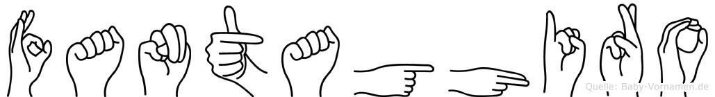 Fantaghiro im Fingeralphabet der Deutschen Gebärdensprache