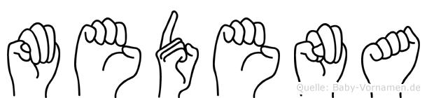 Medena in Fingersprache für Gehörlose