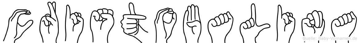 Cristobalina im Fingeralphabet der Deutschen Gebärdensprache