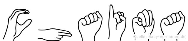 Chaima in Fingersprache für Gehörlose
