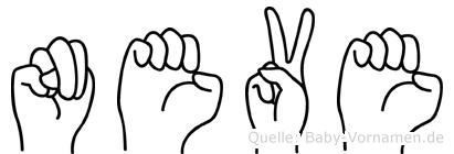 Neve in Fingersprache für Gehörlose