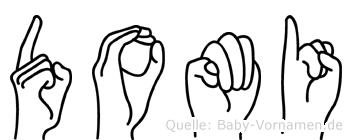 Domi in Fingersprache für Gehörlose