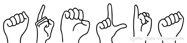 Adelia in Fingersprache für Gehörlose