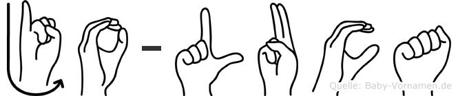 Jo-Luca im Fingeralphabet der Deutschen Gebärdensprache