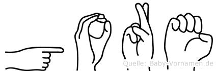 Gore in Fingersprache für Gehörlose