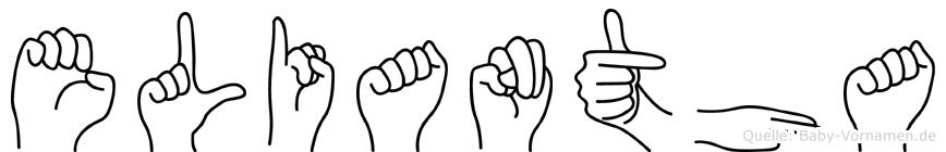 Eliantha im Fingeralphabet der Deutschen Gebärdensprache