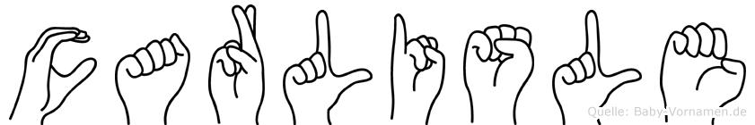 Carlisle in Fingersprache für Gehörlose