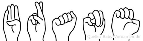 Brane in Fingersprache für Gehörlose