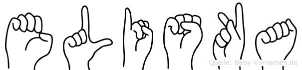 Eliska in Fingersprache für Gehörlose