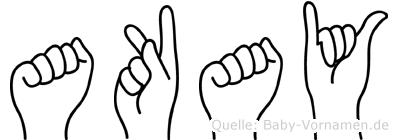 Akay in Fingersprache für Gehörlose